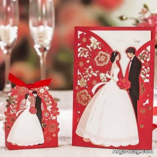 تصاویر فوق العاده ای از کارت عروسی زرشکی