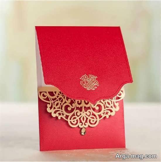 ایده های زیبای دعوتنامه عروسی زرشکی