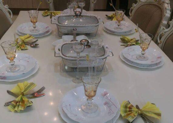 مجموعه ای ناب و نفیس از تزیینات میز ناهار خوری عروس