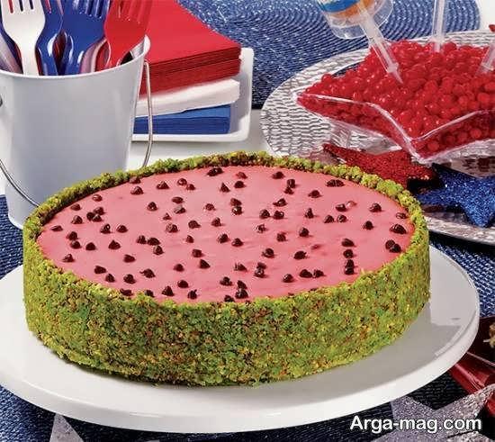 طرح هایی زبیا و شیک از تزیینات زیبای چیز کیک
