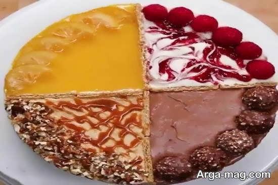 نمونه هایی زیبا و شیک از تزیین کیک پنیر