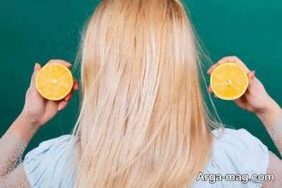 آبلیمو برای روشن کردن موی سر