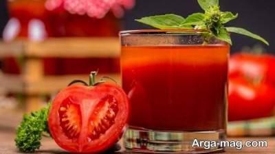 آب گوجه فرنگی و درمان سیاهی ران ها