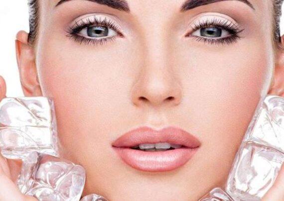 سلامت پوست با استفاده از یخ