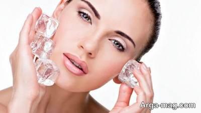 استفاده از یخ برای کاهش لایه های مرده روی پوست