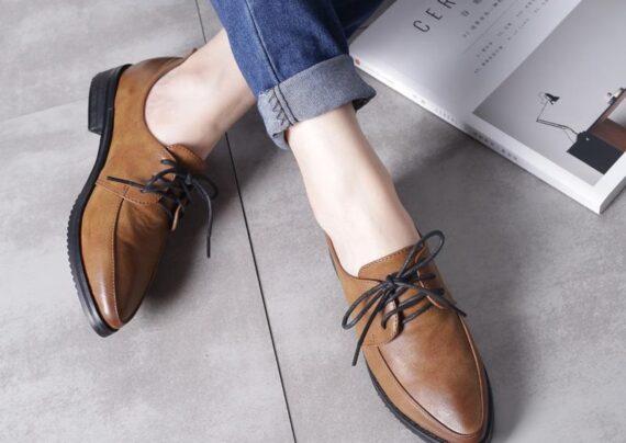 مدل کفش چرم دخترانه