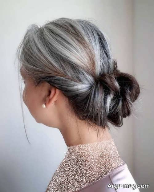 شینیون موی خاکستری