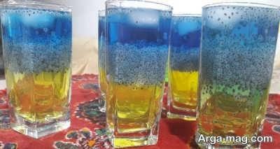 دستور تهیه شربت سه رنگ