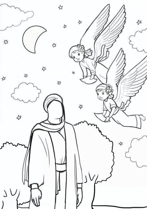 نقاشی جالب امام زمان برای بچه ها