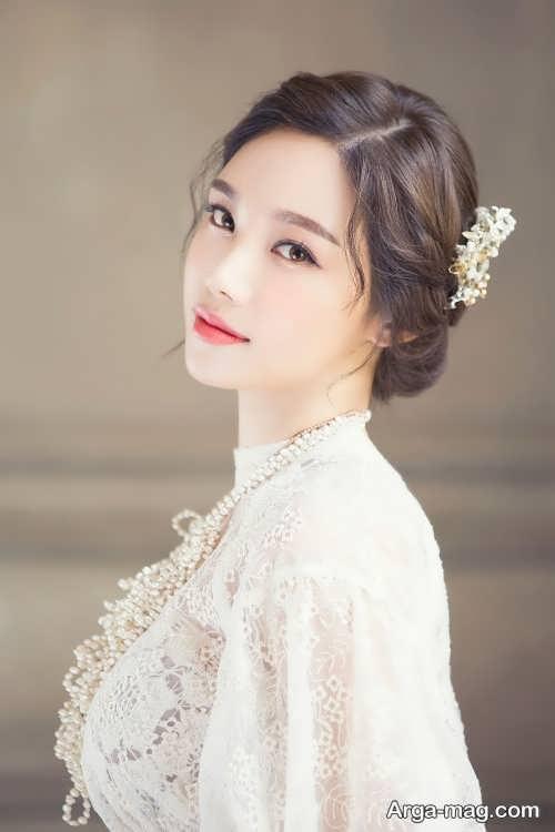 آرایش ملایم صورت عروس به سبک کره ای