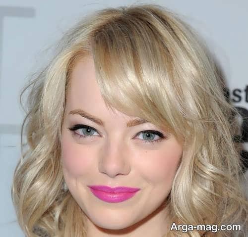 آرایش زیبا و زنانه با رژ صورتی