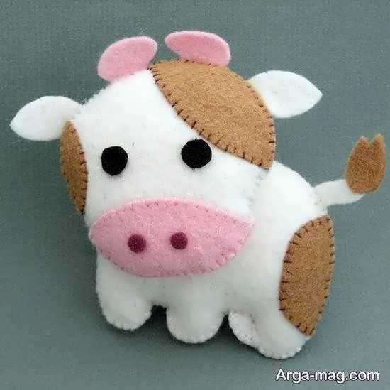 اموزش روش ساده و آسان درست کردن عروسک گاو