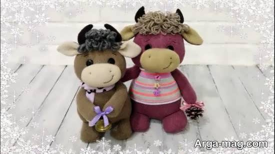 آموزش جالب و ساده ی درست کردن عروسک گاو