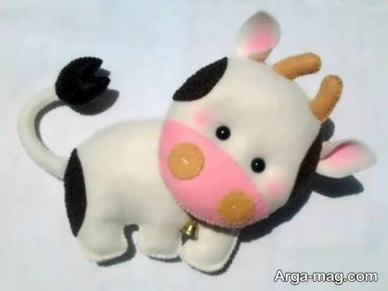 آموزش آسان ساخت عروسک گاو