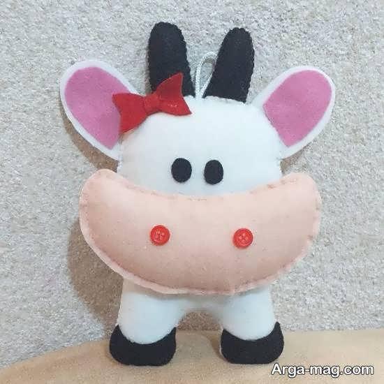 آموزش روش راحت و کم هزینه ساختن عروسک گاو