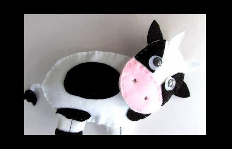 آموزش ساخت عروسک گاو در چند مرحله
