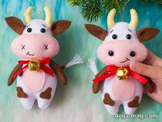 ایده هایی زیبا و جالب از ساختن عروسک گاو