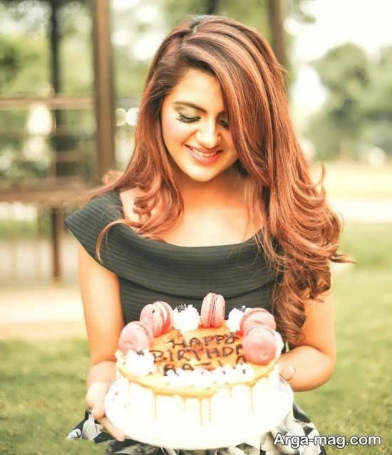 انواع خاص تصویر دخترانه با کیک تولد