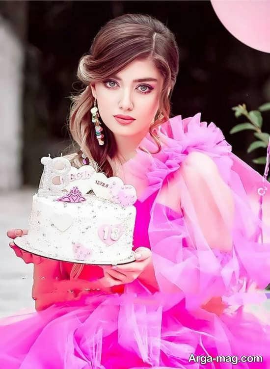 انواع زیبا و جدید ژست عکس با کیک تولد