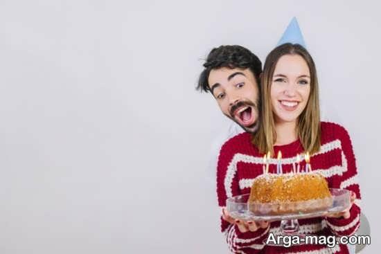 انواع متفاوت ژست عکس با کیک تولد