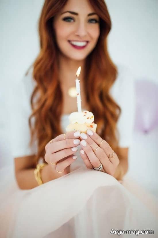 انواع جدید تصویر پروفایل دخترانه با کیک تولد