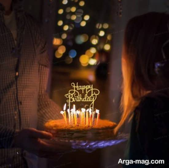 انواع ژست عکس با کیک تولد