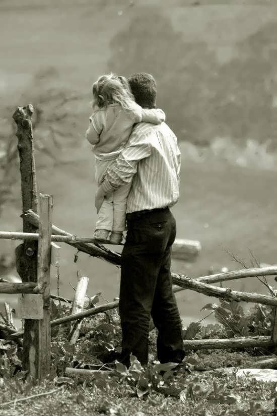 عکس زیبا پدر و دختر برای پروفایل