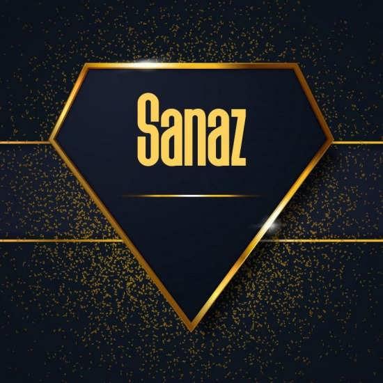طرح نوشته متنوع و خاص اسم ساناز