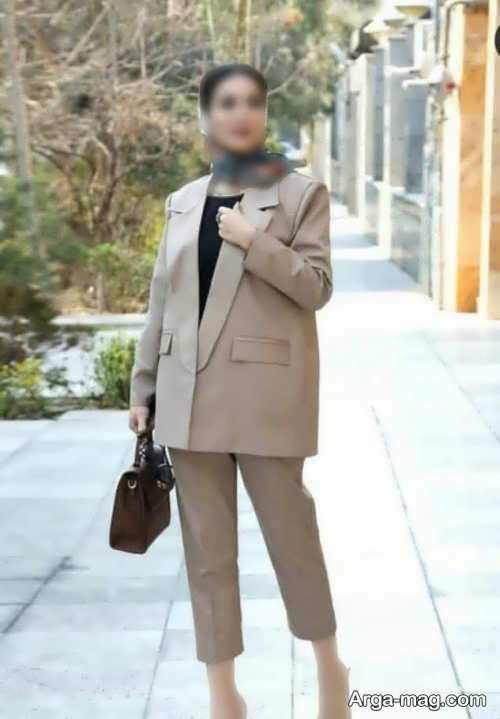 کت شلوار رنگ روشن