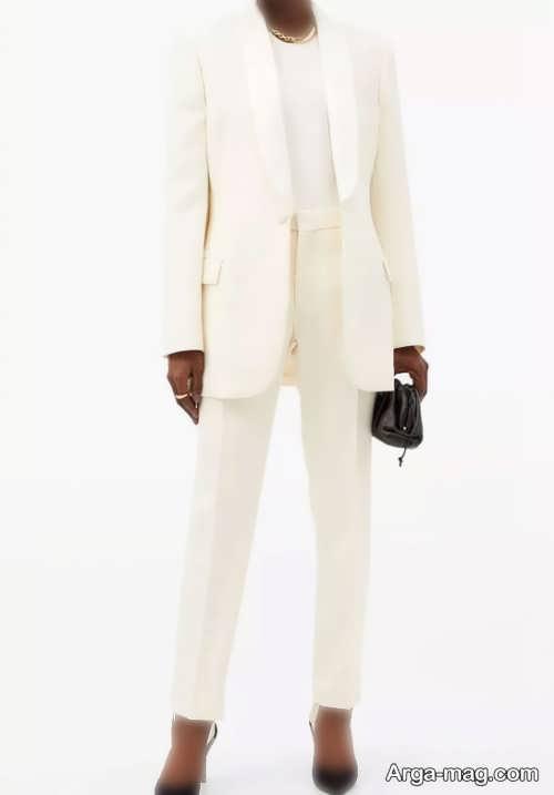 کت شلوار سفید