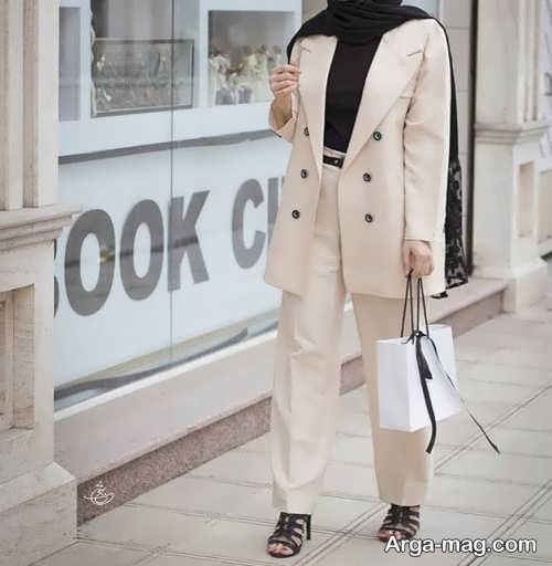 مدل کت و شلوار گشاد و رنگ روشن