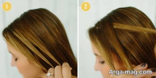 جدا کردن موها برای زدن بافت