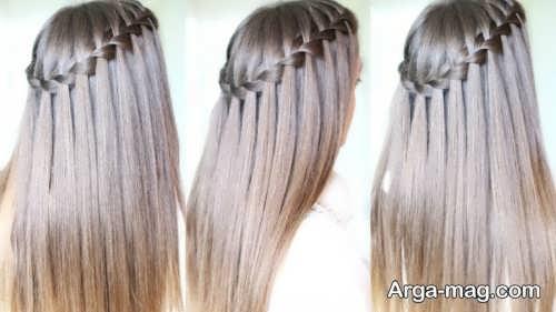 بافت موی آبشاری زنانه و دخترانه