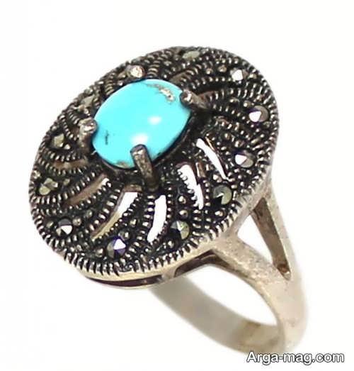 انگشتر فیروزه زیبا و شیک