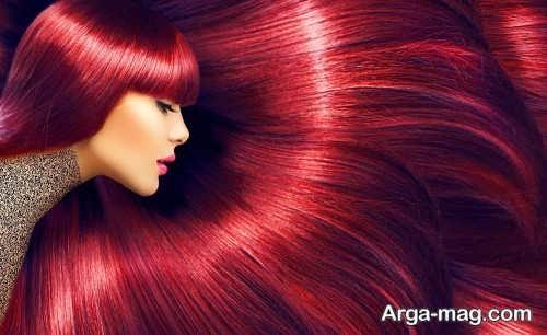 مدل میکاپ زیبا برای موی شرابی