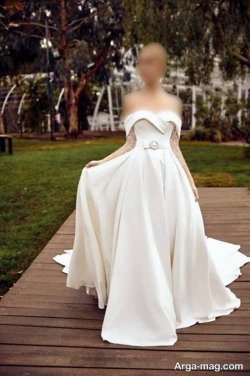 لباس عروس دکلته و شیک 1400