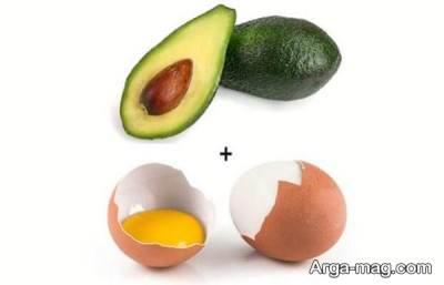 تخم مرغ به هعمراه آووکادو برای لکه بری پوست مناسب است.