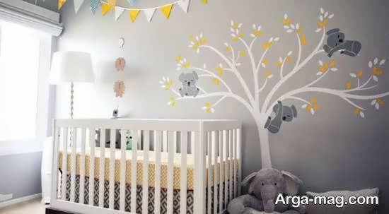 برچسب های دیواری برای اتاق نوزاد دختر و پسر