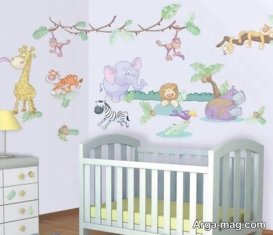 برچسب هایی زیبا و ایده آل برای اتاق نوزاد