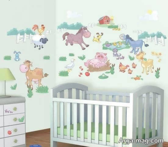 استیکر اتاق نوزاد با طرح های زیبا و جذاب