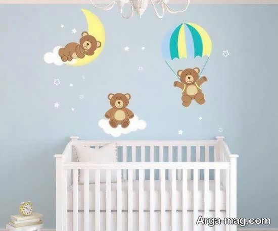 برچسب های زیبا و خلاقیت پرور اتاق نوزاد
