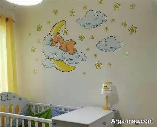 نمونه هایی فوق العاده از برچسب های دیواری حیوانات اتاق نوزاد