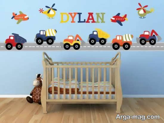 گالری لوکسی از نمونه های استیکر اتاق نوزاد