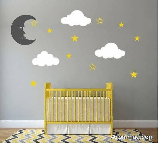 طرح هایی نو و زیبا از برچسب های دیواری اتاق نوزاد