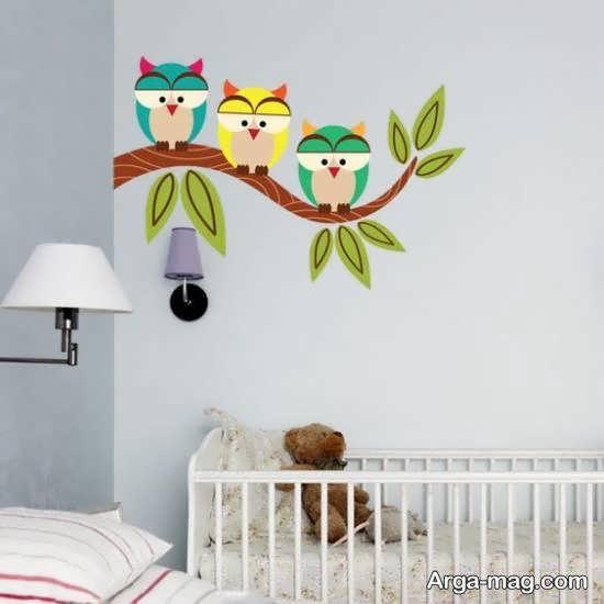برچسب دیواری فانتزی و کودکانه اتاق نوزاد