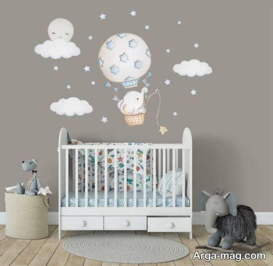 استیکر اتاق نوزاد دختر و پسر
