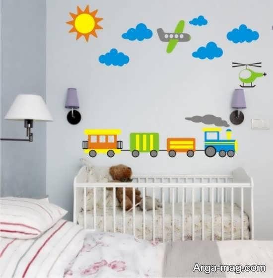 مجموعه ای شیک از برچسب دیواری اتاق نوزاد