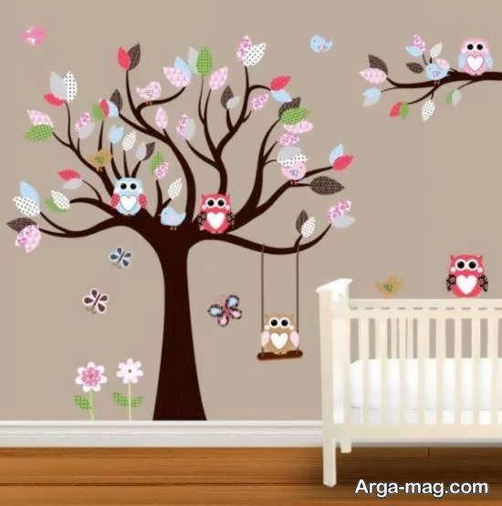 برچسب های دیواری برای اتاق نوزاد