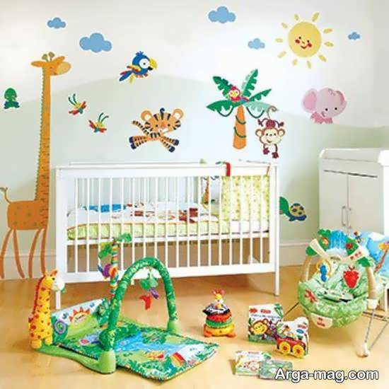 ایده هایی ایده آل از استیکر اتاق نوزاد