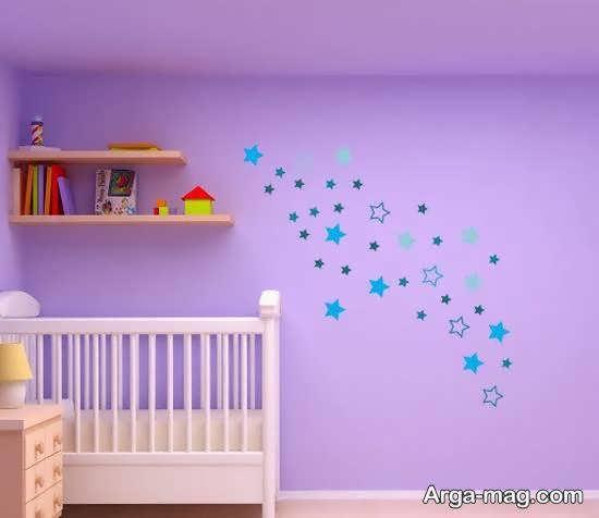 ایده های زیبای استیکر اتاق نوزاد